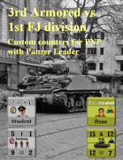Custom Panzer Leader counters for U.S. 3rd Armored & German 1st FJ division