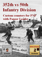 Custom Panzer Leader counters for 352th & 50th Infantry division