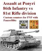 Custom PanzerBlitz counters for 86th Infantry & 81st Rifle division