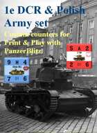 Custom PanzerBlitz counters for French 1e DCR & Polish Army