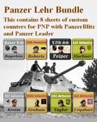 Custom PanzerBlitz/Panzer Leader counters Panzer Lehr Bundle