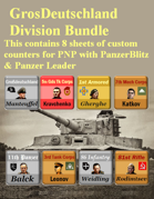 Custom PanzerBlitz/Panzer Leader counters GrosDeutschland Bundle