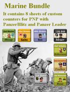 Custom PanzerBlitz/Panzer Leader counters Marine Bundles
