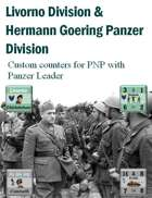Custom Panzer Leader counters for Italian Livorno Division and Hermann Goering Panzer Division