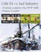 Custom Panzer Leader counters for 12th SS & U.S. 2nd Infantry Division