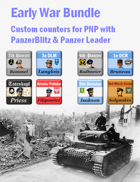 Custom PanzerBlitz/Panzer Leader counters Early War Bundle