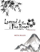 Legend of the Five Rings RPG Beta Rulebook