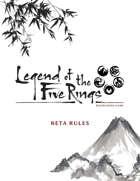 Legend of the Five Rings RPG Beta Rulebook