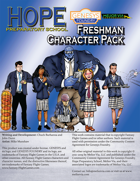 Hope Prep School Freshman Character Pack - Genesys Edition