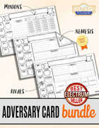 Blank Adversary Cards Bundle
