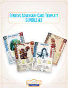 Genesys Adversary Cards Template Bundle [BUNDLE]