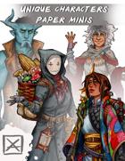 Unique Characters Paper Minis 1