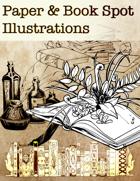 Paper & Book Spot Illustrations