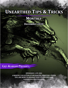 Unearthed Tips and Tricks Monthly: Issue 3 December 2020