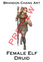 Fantasy Character Stock Art: Female Elf Druid