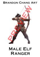 Fantasy Character Stock Art: Male Elf Ranger