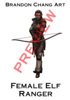 Fantasy Character Stock Art: Female Elf Ranger