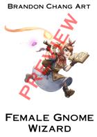Fantasy Character Stock Art: Female Gnome Wizard