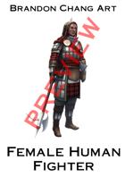 Fantasy Character Stock Art: Female Human Fighter