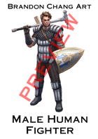 Fantasy Character Stock Art: Male Human Fighter