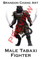 Fantasy Character Stock Art: Male Catfolk Fighter