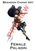 Fantasy Character Stock Art: Female Paladin