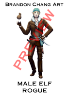 Fantasy Character Stock Art: Male Elf Rogue