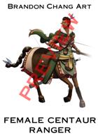 Fantasy Character Stock Art: Female Centaur Ranger
