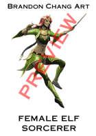 Fantasy Character Stock Art: Female Elf Sorcerer