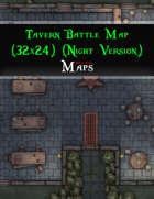 Tavern Battle Map (32x24) (Night Version)