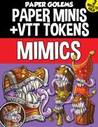 Paper Golems Paper Minis & VTT: Mimics