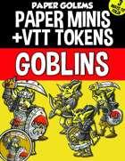 Paper Golems Paper Minis & VTT: Goblins