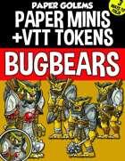 Paper Golems Paper Minis & VTT: Bugbears