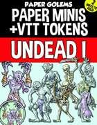 Paper Golems Paper Minis & VTT: Undead 1