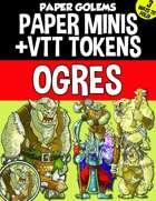 Paper Golems Paper Minis & VTT: Ogres