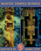Mantis Temple Entrance & Interior Bundle, Tumultuan Jungle [12x20]