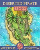 Deserted Pirate Island [13x22]