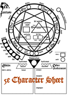 Occult Character Sheet for 5th Edition