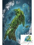 The Fallen God Island (Color)