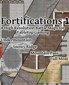 Battlemaps - Fortifications 1 (B/W)