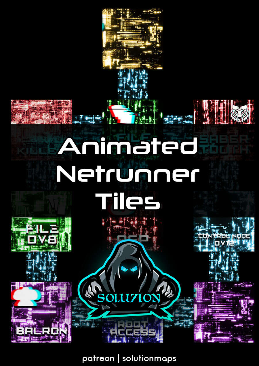 Dystopian Netrunner Tiles - Cyberpunk Animated Battle Map