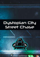 Dystopian City Street Chase 1080p - Cyberpunk Animated Battle Map