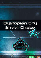 Dystopian City Street Chase 4k - Cyberpunk Animated Battle Map