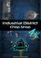 Industrial District Chop Shop 4k - Cyberpunk Animated Battle Map