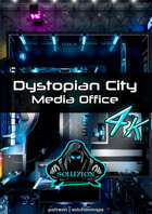 Dystopian City Media Office 4k - Cyberpunk Animated Battle Map