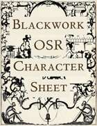 Blackwork OSR Character Sheet
