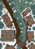 Woodland Village - 50x25 Map - Winter Variant