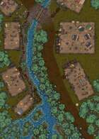 Woodland Village - 50x25 Map - Ruined Variant
