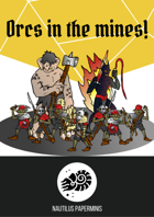Paper miniatures set: Orcs in the mines!