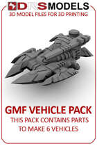 15MM SCALE THE CROFT SCI FI VEHICLE PACK